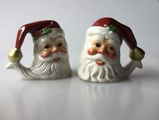 Vintage Fitz And Floyd Holiday Santa Hand Crafted Santa Salt And Pepper Shakers