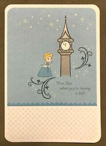 Belated Birthday Greeting-Disney Princess-Time flies when you..HallmarkNEW(A26))