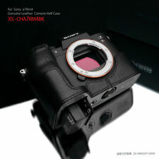 Gariz XS-CHA7RM4BK Genuine Leather Half Case for Sony A7RIV a7R IV, Black