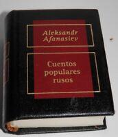 MINI LIBRO CUENTOS POPULARES  RUSOS- ALEKSANDER AFANASIEV