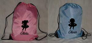 PERSONALISED SWIMMING DRAWSTRING PE BAG - TODDLER / BABY / CHILD BOY GIRL LOGO