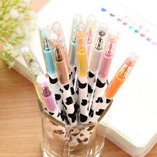 12pcs/lot Colorful milky Cow Print Gel Pen Cute Pens Student Office Accessories