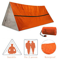 US Emergency Shelter Outdoor Thermal Blanket Camping Sleeping Bag Survival Tent