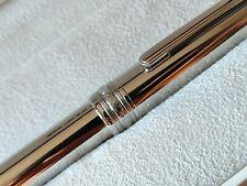 Montblanc Meisterstück Solitaire Stainless Steel 144 Fountain Pen 18K Fine nib