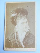 CdV-Foto BRESLAU 1876: Schauspielerin Clara ZIEGLER (1844-1909) / N. Raschkow Jr