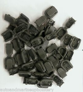 10 FOLIAGE Zipper Pull Cord Ends Plastic Para-cord Rope Military Tactical Gear