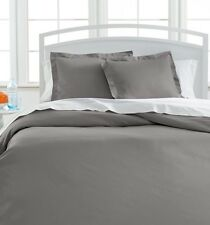 Westport 1000 Thread Count 3-Piece King Duvet Cover Set Platinum NIP  $340