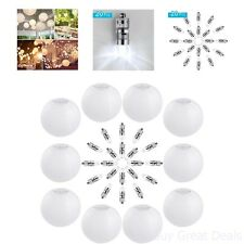 Paper Lanterns White Round Wedding 10 Packs 12 Inch 20 Pack LED Party Lights