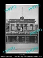 OLD LARGE HISTORIC PHOTO OF ADELAIDE SA, THE FRANK NORTH C&S HOTEL c1910