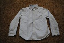 CARTERS Little Boy Sleeve Blue White Striped Oxford Dress Shirt ~ Size 7