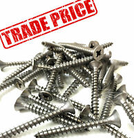 **TRADE PRICE** A4 MARINE NO RUST STAINLESS STEEL POZI CSK WOOD SCREWS 6g 7g 8g