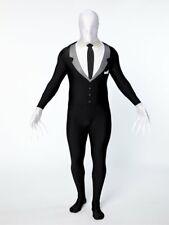 Boys teens Size Medium Slender Man Partysuit Spandex Skin Fancy Dress Costume