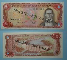 1988 DOMINICAN REPUBLIC 5 GOLD PESOS THOMAS DE LA RUE SPECIMEN INV#PM123-23