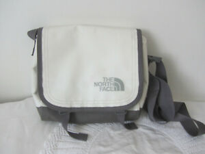 The North Face White & Grey Shoulder Mesanger Bag