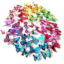 72 x PCS 3D Colorful Butterfly Wall Stickers Decal Vinyl 6 Colors Decor Home Art