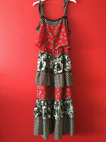 Next Strappy Floral Print Tiered Summer Beach Holiday Maxi Dress Size 8