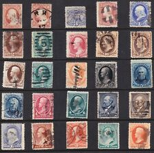 US collection: 25 old 19th century stamps U/F-VF CV $400+