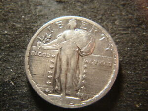 1919-D  VF XF Dated  Standing Liberty Quarter Nice Looking Coin GSX