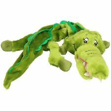 Plush Super Soft Unstuffed Wild Crinkler Alligator Dog Toy With Squeak 60x14x9cm