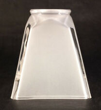 "NEW  2 1/4""  fitter  FROSTED  Sandblast GLASS MISSION FLARED FIXTURE LAMP SHADE"