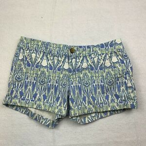 American Eagle Outfitters Midi Stretch Chino Shorts Womens 8 Multicolor Print