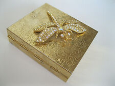 """KIRKS FOLLY RARE/SIGNED """"CONTACT LENSE CASE W/MIRROR"""" DRAGONFLY ON COVER!"""