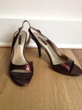 b4708c28839 NEW Nine West Women s Peep Toe Slingback Pumps Sandals Size 9.5 Brown Bronze