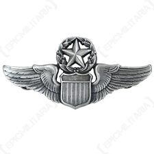 New US COMMANDING PILOT WINGS - Metal Uniform Cap Pin Badge Air Force Commander