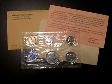 1964 US Mint Proof Coin Set with Accented Hair Kennedy Half Dollar