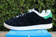ADIDAS ORIGINALS STAN SMITH FUR FOURNESS SZ 8.5 CORE BLACK CHALK WHITE S77877