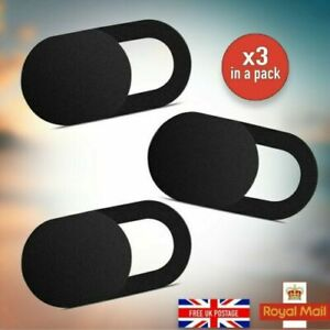 Webcam Cover 3 PACK Thin Camera Slider Iphone Privacy Laptop Mobile Tablet UK