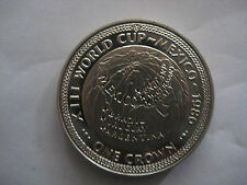 One Crown 1986 , Isle of man =  Mexico,XIII World Cup-Mexico, PP/Proof-wie Neu