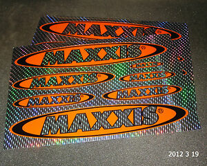 2 AUTHENTIC MAXXIS TYRES HOLOGRAPHIC STICKER SHEETS / DECAL / TIRES