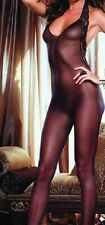 Ladies Lingerie sexy black lace body-stocking sheer lacy backless all-in-one