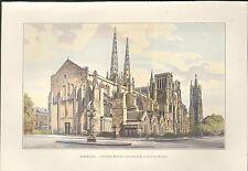 33 BORDEAUX CATHEDRALE SAINT-ANDRE IMAGE EN COULEURS 1903