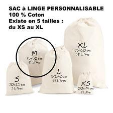 SAC à LINGE a personnaliser LESSIVE vetements enfants Taille M Petit modèle