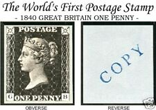 1840 PENNY BLACK OF GREAT BRITAIN REPLICA