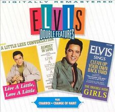 ELVIS Live a Little/Charro!/Trouble w/Girls/Change of Habit DOUBLE FEATURES CD