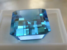 Natural SWISS BLUE Topaz 45 carats 25x18mm Emerald Cut Faceted Loose Gemstone