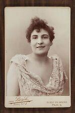 Marguerite Duclere, Chanteuse excentrique, Photo Cabinet card, Van Bosch Paris