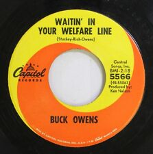 Country 45 Buck Owens - Waitin' In Your Welfare Line / In The Palm Of Your Hand