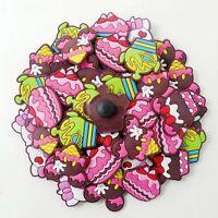 Child Gifts 50pcs Cute Cake Ice Cream Shoe Charms Fit Clog Sandal Bracelets