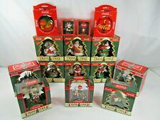 Vintage Lot Of 15 Coca Cola Christmas Ornaments Trim A Tree Collection & Other