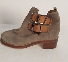 NEW TOPSHOP SUEDE GRAY ANKLE BOOTS WOMEN 37