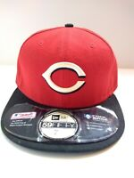 Cincinnati Reds New Era Wool Fitted Hat Cap Size 7 1/4 Baseball On Field MLB