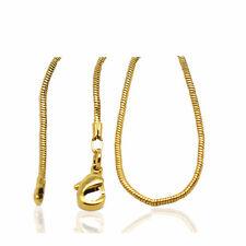 18 K Placcato Oro Collana Catena Serpente Lady per le donne catena 1 mm di larghezza n416
