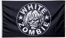 White Zombie Flag 3x5 Black Banner US Free shipping