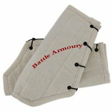White Cotton Arm Protector Padded Bracers Medieval Renaissance Costume SCA LARP