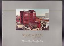 Winston Plaza a Stouffer Hotel Booklet Winston-Salem North Carolina