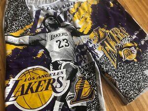 Los Angeles Lakers Lebron James Sweat Shorts sz XXL nba licensed sweatshorts unk